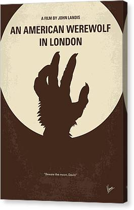No593 My American Werewolf In London Minimal Movie Poster Canvas Print by Chungkong Art