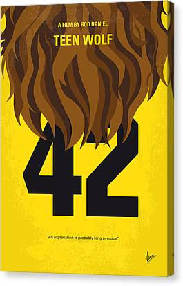 No607 My Teen Wolf Minimal Movie Poster Canvas Print by Chungkong Art