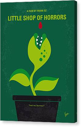 No611 My Little Shop Of Horrors Minimal Movie Poster Canvas Print by Chungkong Art