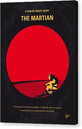 No620 My The Martian Minimal Movie Poster Canvas Print by Chungkong Art