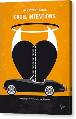 No635 My Cruel Intentions Minimal Movie Poster Canvas Print by Chungkong Art