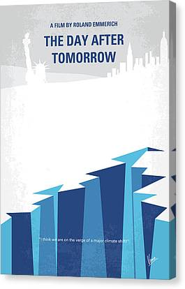 No651 My The Day After Tomorrow Minimal Movie Poster Canvas Print by Chungkong Art