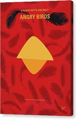 No658 My Angry Birds Movie Minimal Movie Poster Canvas Print by Chungkong Art