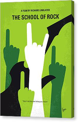 No668 My The School Of Rock Minimal Movie Poster Canvas Print by Chungkong Art