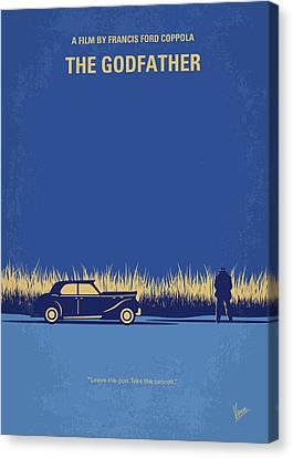 No686-1 My Godfather I Minimal Movie Poster Canvas Print by Chungkong Art