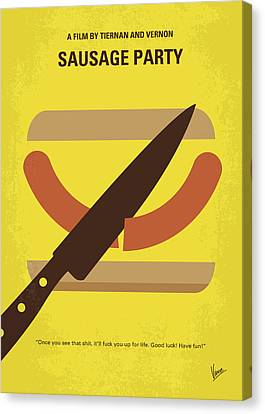 No704 My Sausage Party Minimal Movie Poster Canvas Print by Chungkong Art