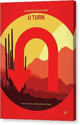 No745 My Uturn Minimal Movie Poster Canvas Print by Chungkong Art
