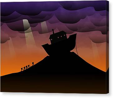 Noah's Ark Discovery Canvas Print by Nestor PS