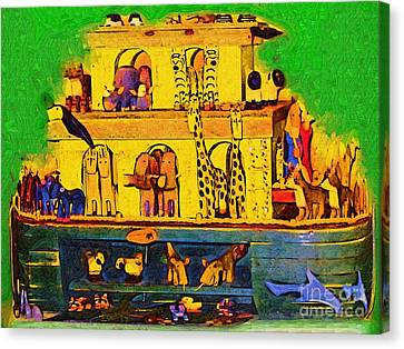 Noahs Ark From My Point Canvas Print by Deborah MacQuarrie