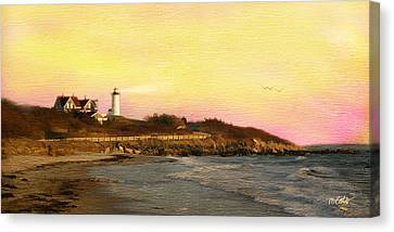 Nobska Light Canvas Print by Michael Petrizzo