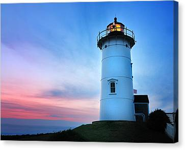 Nobska Point Lighthouse Canvas Print by Thomas Schoeller