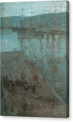 Nocturne In Blue And Gold Valparaiso Canvas Print by James Abbott McNeill Whistler