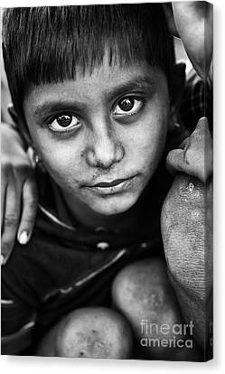 Nomadic Rajasthan Boy Canvas Print by Tim Gainey
