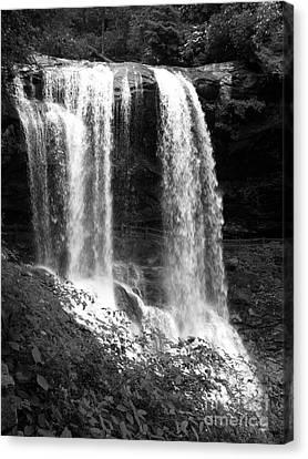 North Carolina Dark Falls Canvas Print by Julian Bralley