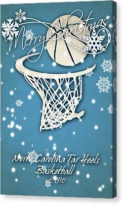 North Carolina Tar Heels Christmas Card 2 Canvas Print by Joe Hamilton