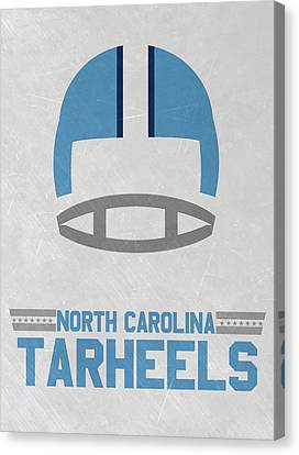 North Carolina Tar Heels Vintage Football Art Canvas Print by Joe Hamilton
