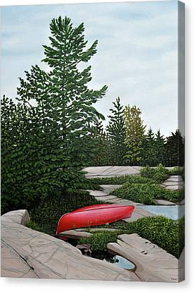 North Country Canoe Canvas Print by Kenneth M  Kirsch