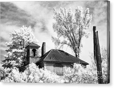 North Grove Firehouse Canvas Print by Jeff Holbrook