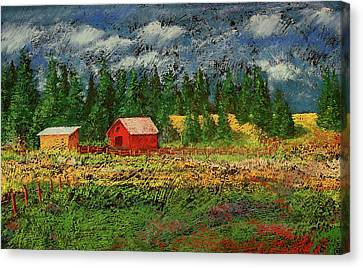 North Idaho Farm Canvas Print by David Patterson