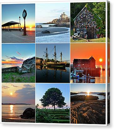 North Shore Massachusetts Collage Canvas Print by Toby McGuire