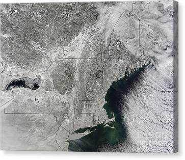 Northeast Winter 2015 Canvas Print by Science Source