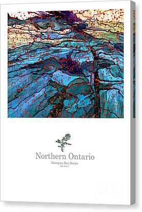 Northern Ontario Poster Series Canvas Print by Bob Salo