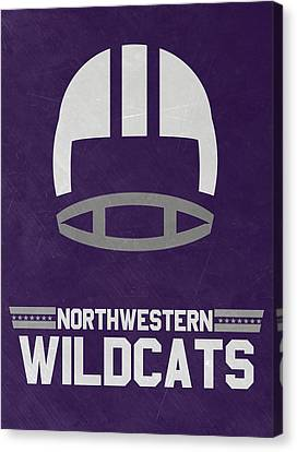 Northwestern Wildcats Vintage Football Art Canvas Print by Joe Hamilton