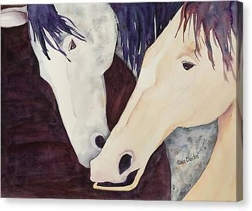Nose To Nose II Canvas Print by Renee Chastant