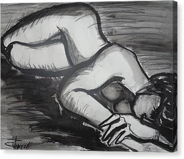 Nostalgic 2 - Female Nude Canvas Print by Carmen Tyrrell