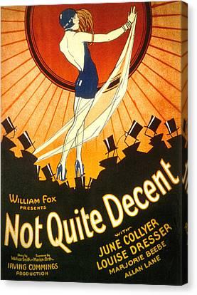 Not Quite Decent, June Collyer, 1929 Canvas Print by Everett