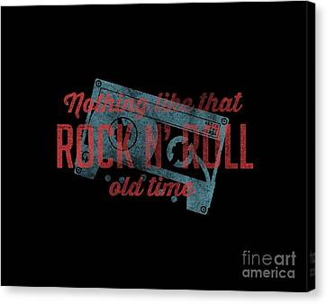 Nothing Like That Old Time Rock N' Roll Tee Canvas Print by Edward Fielding