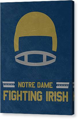 Notre Dame Fighting Irish Vintage Football Art Canvas Print by Joe Hamilton