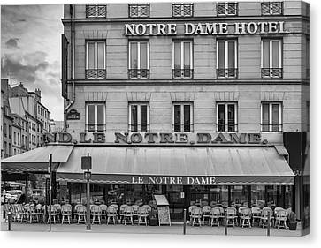 Notre Dame Hotel Canvas Print by Georgia Fowler