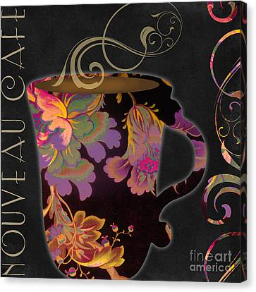 Nouveau Cafe Warm Canvas Print by Mindy Sommers