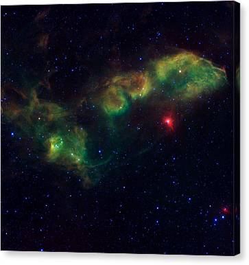 Nu Scorpii Or Jabbah V Sco, 14 Scorpii A Star System In The Constellation Scorpius Canvas Print by American School