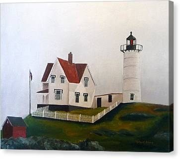 Nubble Light Iv Canvas Print by Dillard Adams