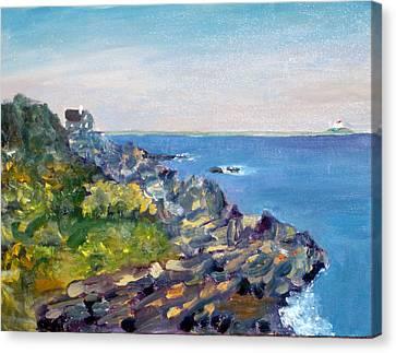 Nubble Point Canvas Print by Dillard Adams