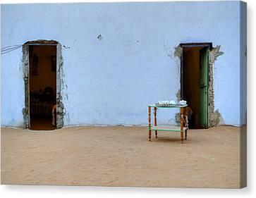 Nubian House In Egypt Canvas Print by Joana Kruse