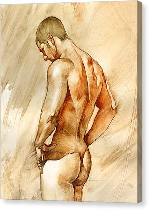 Nude 41 Canvas Print by Chris  Lopez