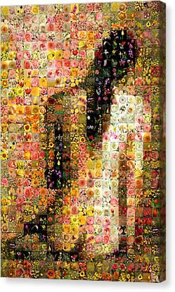 Nude Back Canvas Print by Gilberto Viciedo