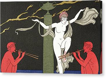 Nude Dancer  Canvas Print by Georges Barbier