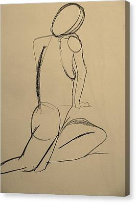 Nude Drawing 2 Canvas Print by Kathleen Fitzpatrick