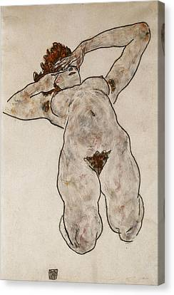 Nude Lying Down Canvas Print by Egon Schiele