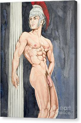 Nude Male Spartan Canvas Print by The Artist Dana