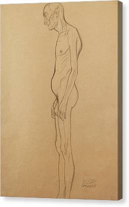 Nude Man Canvas Print by Gustav Klimt