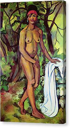 Nude Canvas Print by Marie Clementine Valdon