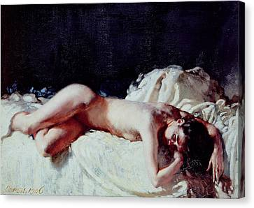 Nude Study Canvas Print by Sir William Orpen