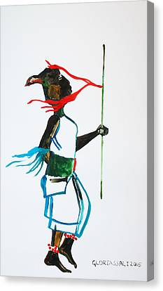 Nuer Dance - South Sudan Canvas Print by Gloria Ssali