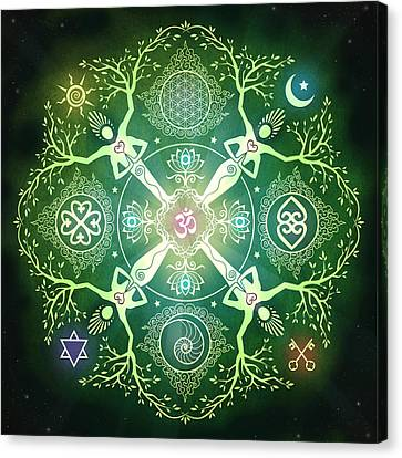 Numinosity Mandala Canvas Print by Cristina McAllister