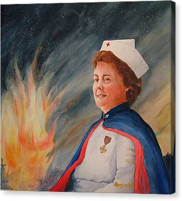 Nurse Arvin Canvas Print by Mary Lou Hall